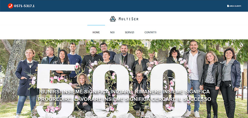Multiser s.r.l. - Corporate WebSite